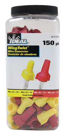 Twist-On Conn Kit, Yellow and Red, 150pcs.