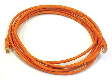 Ethernet Cable, Cat 5e, Orange, 10 ft.