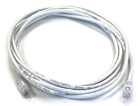 Ethernet Cable, Cat 5e, White, 10 ft.