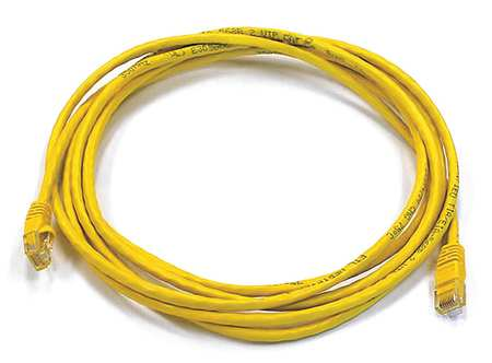 Ethernet Cable, Cat 5e, Yellow, 10 ft.