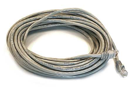 Ethernet Cable, Cat 5e, Gray, 30 ft.