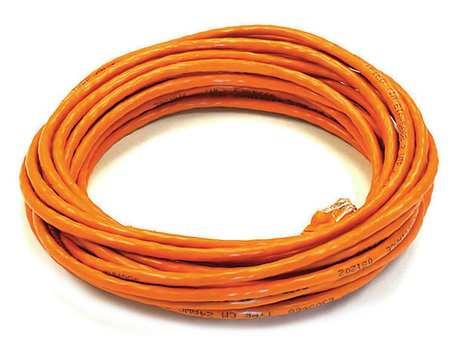Ethernet Cable, Cat 5e, Orange, 25 ft.