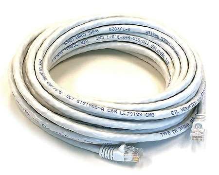 Ethernet Cable, Cat 5e, White, 30 ft.