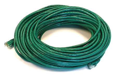 Ethernet Cable, Cat 5e, Green, 100 ft.