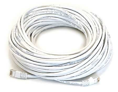 Ethernet Cable, Cat 5e, White, 75 ft.