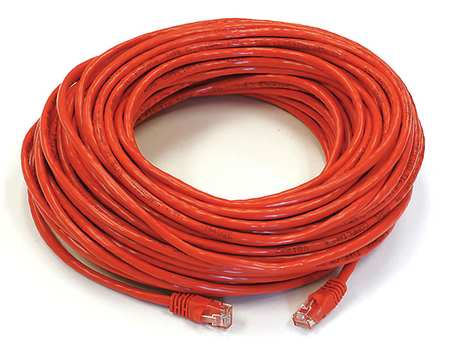 Ethernet Cable, Cat 5e, Red, 100 ft.