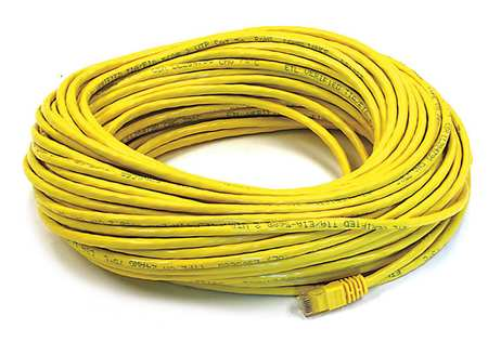 Ethernet Cable, Cat 5e, Yellow, 100 ft.