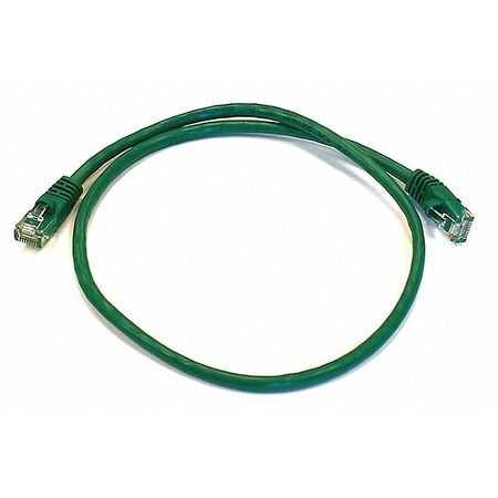 Ethernet Cable, Cat 6, Green, 2 ft.