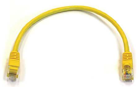 Ethernet Cable, Cat 6, Yellow, 1 ft.
