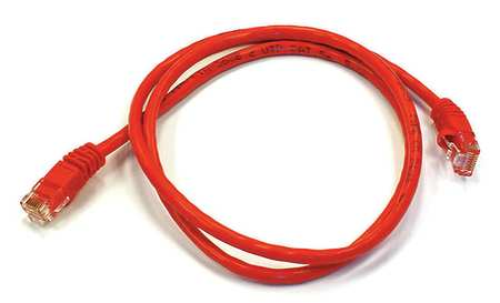 Ethernet Cable, Cat 6, Red, 3 ft.