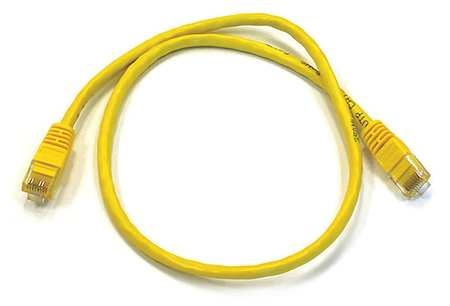 Ethernet Cable, Cat 6, Yellow, 2 ft.