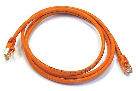 Ethernet Cable, Cat 6, Orange, 5 ft.