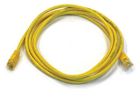 Ethernet Cable, Cat 6, Yellow, 7 ft.