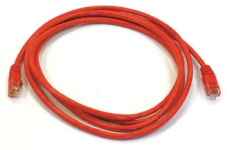 Ethernet Cable, Cat 6, Red, 7 ft.