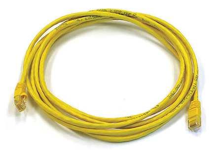 Monoprice Ethernet Cable, Cat 6, Yellow, 10 ft. 3443 | Zoro.com