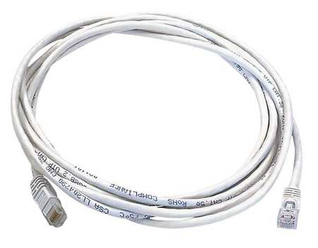 Ethernet Cable, Cat 6, White, 10 ft.