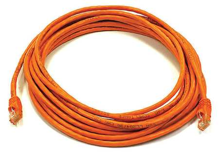 Ethernet Cable, Cat 6, Orange, 20 ft.