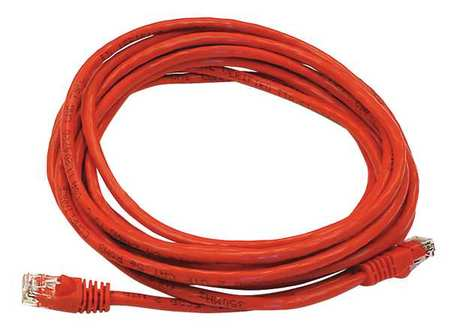 Ethernet Cable, Cat 5e, Red, 14 ft.