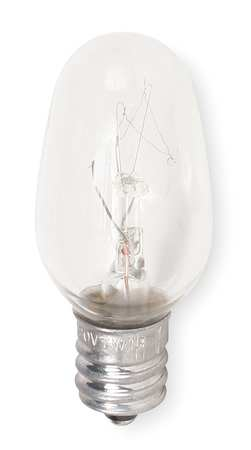 GE LIGHTING 7.0W,  C7 Incandescent Light Bulb
