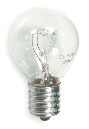 GE LIGHTING 40W,  S11 Incandescent Light Bulb
