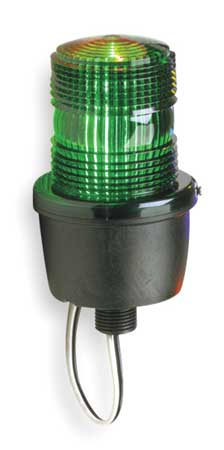 Low Profile Warning Light, Strobe, Green