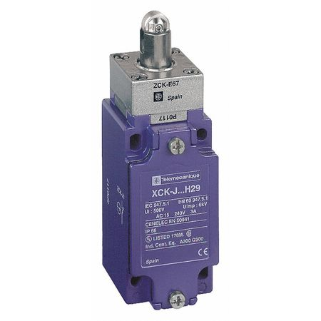 1NC/1NO Heavy Duty Limit Switch Plunger IP 66