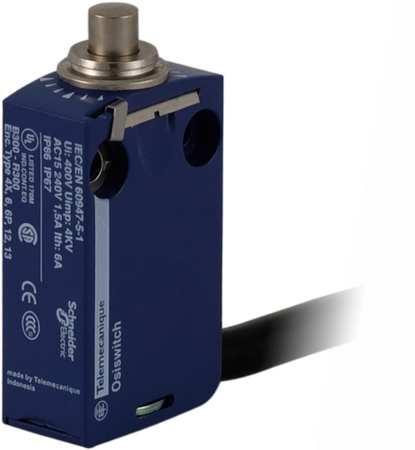 Miniature Limit Switch, 2.57 in. H