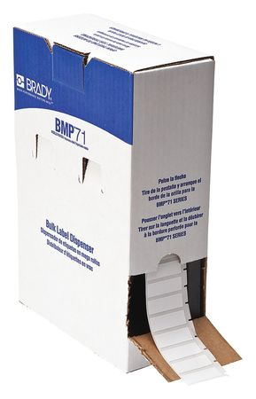 "1/2"" x 1-1/2"" White Cartridge Label"