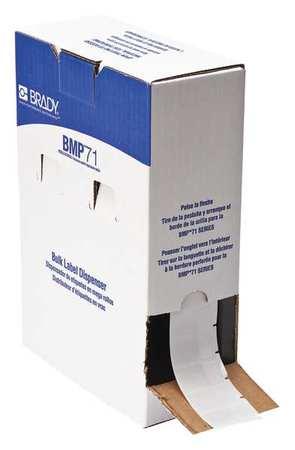 "3/4"" x 1-1/2"" White on Translucent Cartridge Label"