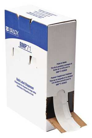 "1-1/2"" x 1-1/2"" White on Translucent Cartridge Label"