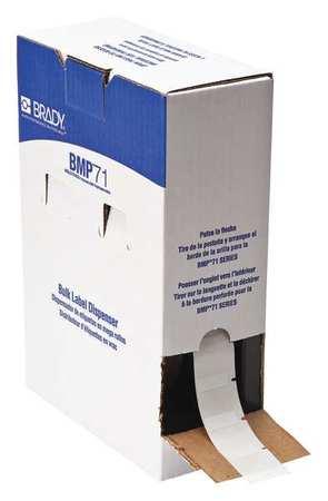 "1"" x 1"" White on Translucent Cartridge Label"