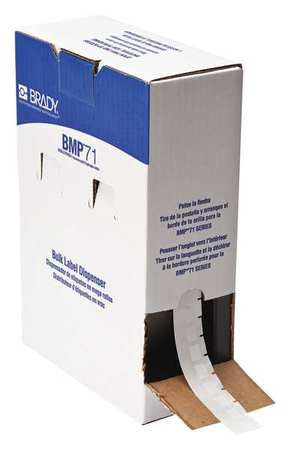 "1/2"" x 3/4"" White Cartridge Label"