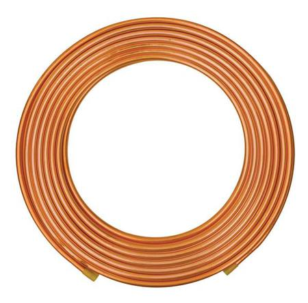 "7/8"" OD x 60 ft. Red Plastic Coil Copper Tubing Type K"