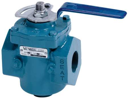 Plug Valve, 1In, Lever Operated, CI