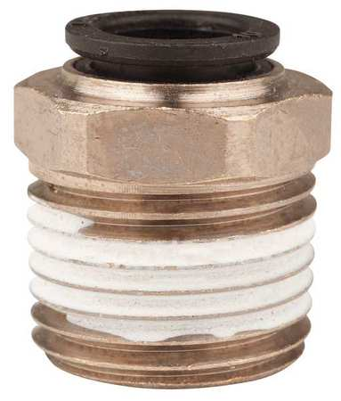 "1/2"" MNPT x 10mm Tube Nickel Brass Connector 10PK"