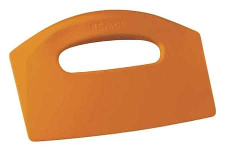 Bench Scraper, Poly, 8-1/2 x 5 In, Orange