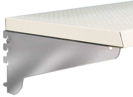 Perforated Shelf, Steel, 20 ga., White, PK4