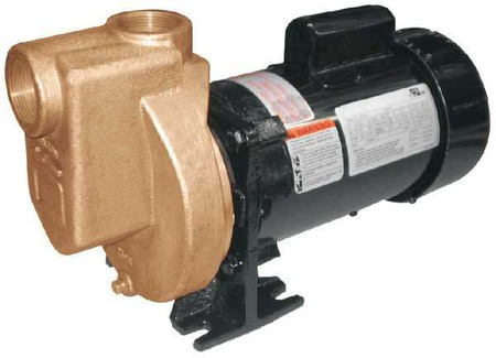 Pump, Centrifugal, Bronze, 1/2HP, 1 PH
