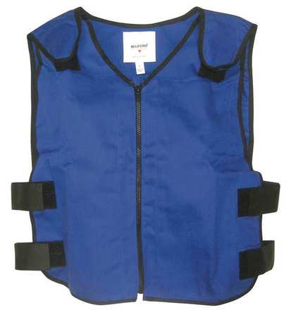 2XL 22 In. L Cooling Vest,  Blue