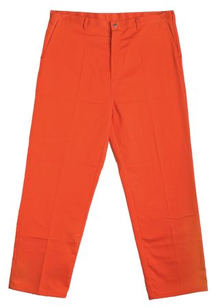 Flame-Retardant Treated Cotton Pants, Orange, 3XL