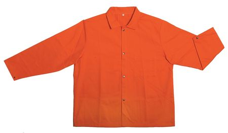 Flame-Retardant Treated Cotton Jacket, Orange, XL