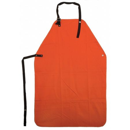 Flame Resistant Apron,  Orange,  Cotton