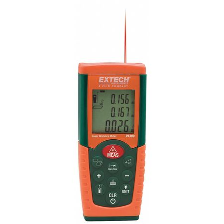Laser Distance Meter, 2 In to 164 Ft.