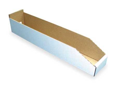 Corrugated Shelf Bin, 200 lb., 4-1/4 In. W