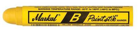 Paint Marker, 11/16 In., Yellow, PK12