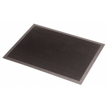 Rubber Entrance Mat, Black, 2ft. x 2ft. 8""