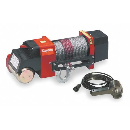 Electric Winch, 1.9HP, 12VDC