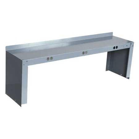 Electrical Shelf Riser, 60Wx15Dx18H, Gray
