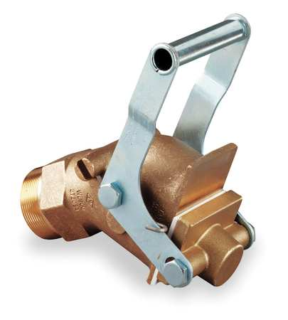 Drum Faucet, 2 In, Self-Closing, Brass