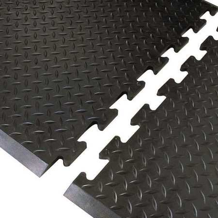 Antifatigue Mat, Black, 3ft. x 2ft. 7""